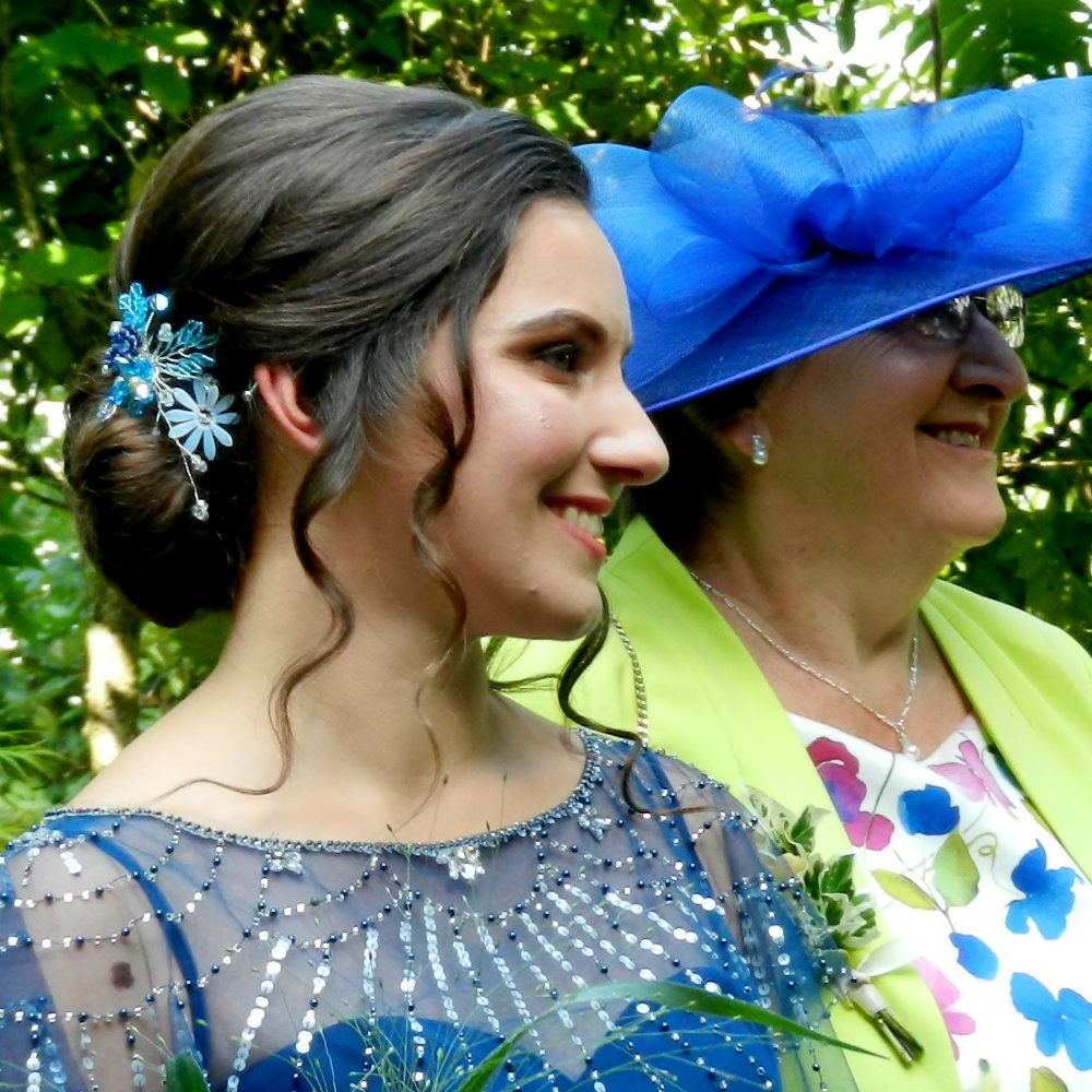 Joanna-blue bridesmaids hair accessory-by Beady Bride-UK-1.1