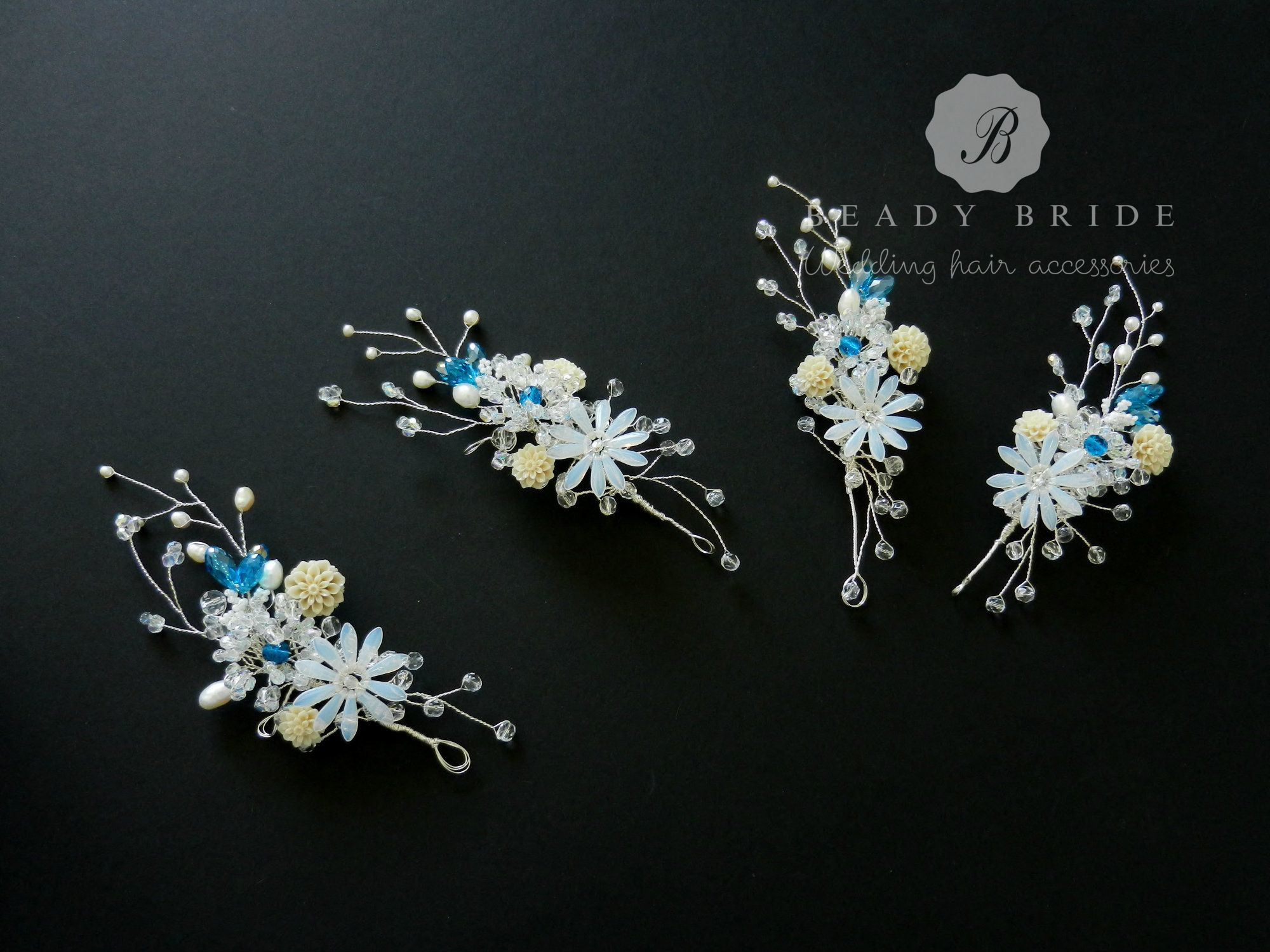 Melanie-bridesmaids hair accessory-by Beady Bride-UK