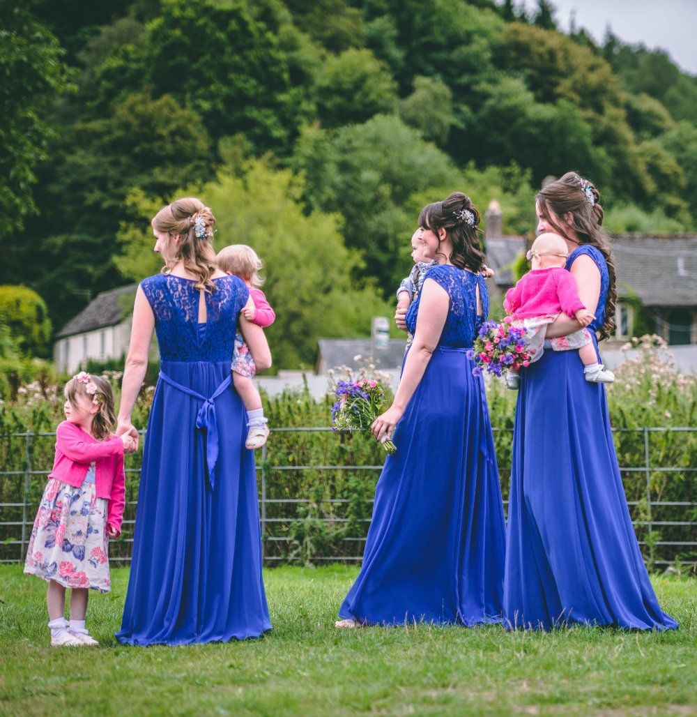 Bridesmaids wedding hair accessories-UK-Gloucestershire