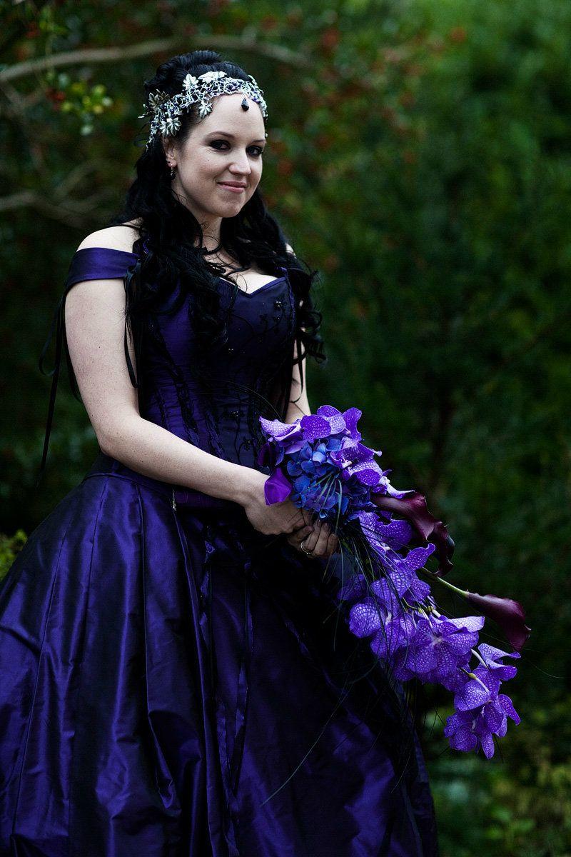 Purple-Gothic-bridal-wedding-hair accessories-UK