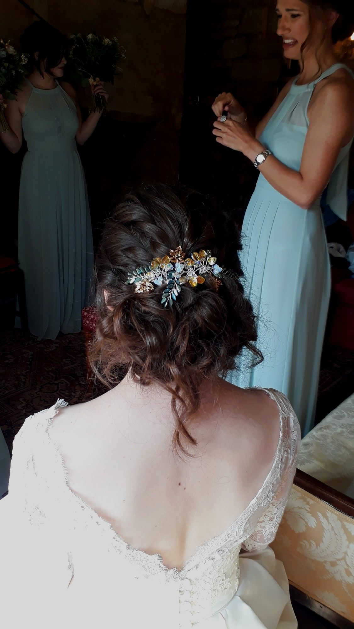 Bespoke wedding hair peices and bridal wedding hair accessories-UK