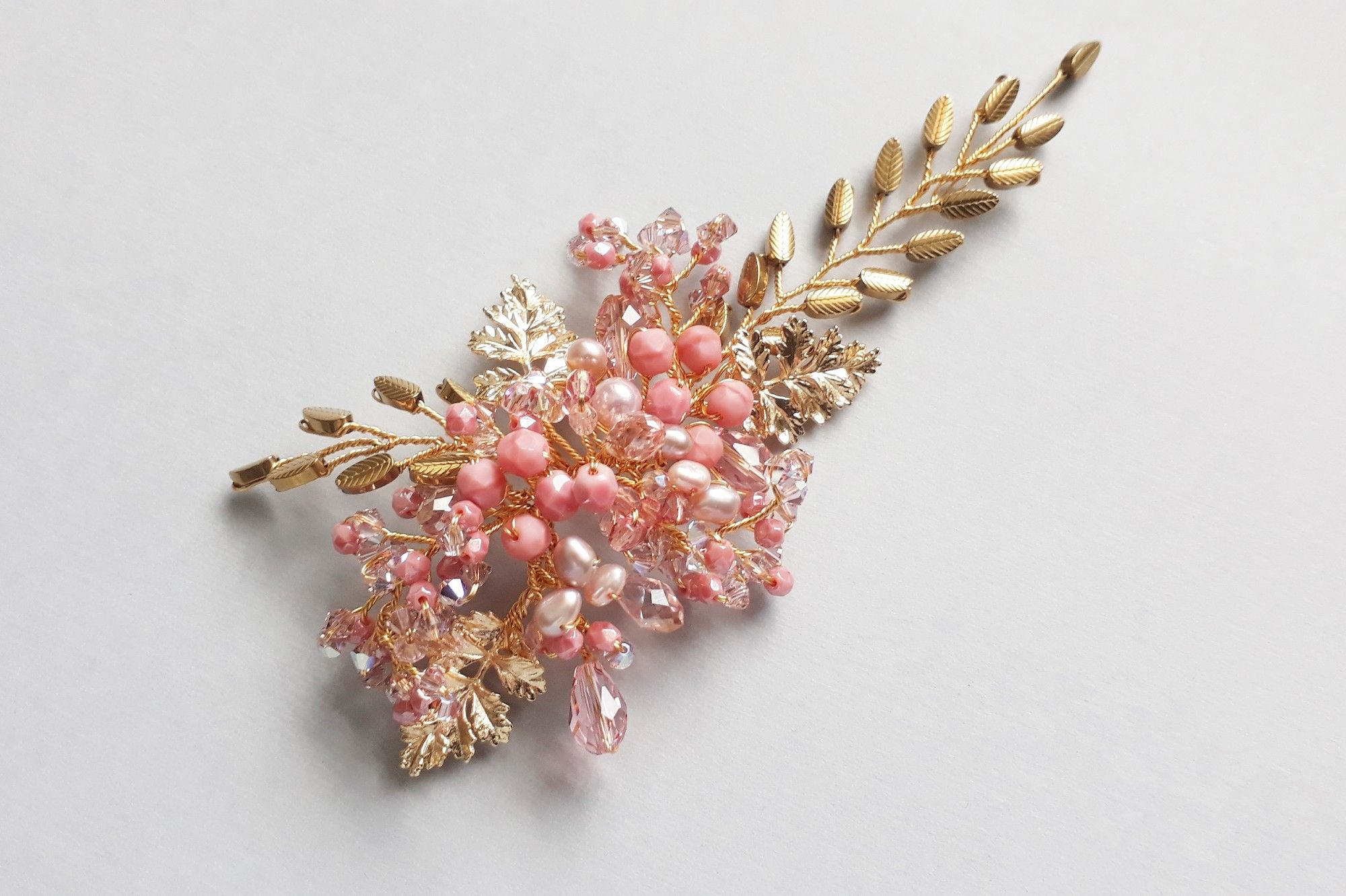 Pink-Bespoke wedding hair peices and bridal wedding hair accessories-UK