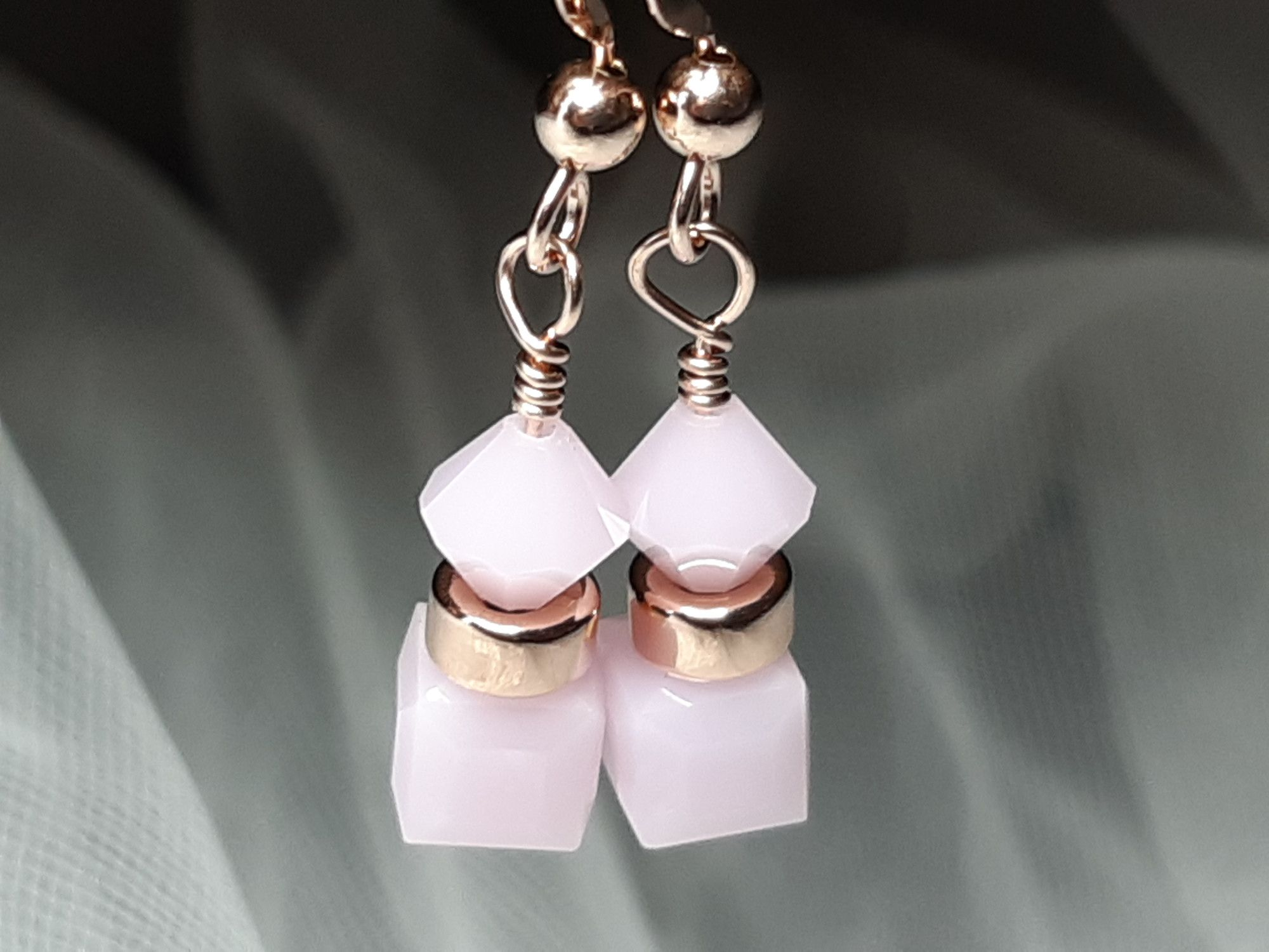 Occasion-peony pink+rose gold earrings-4