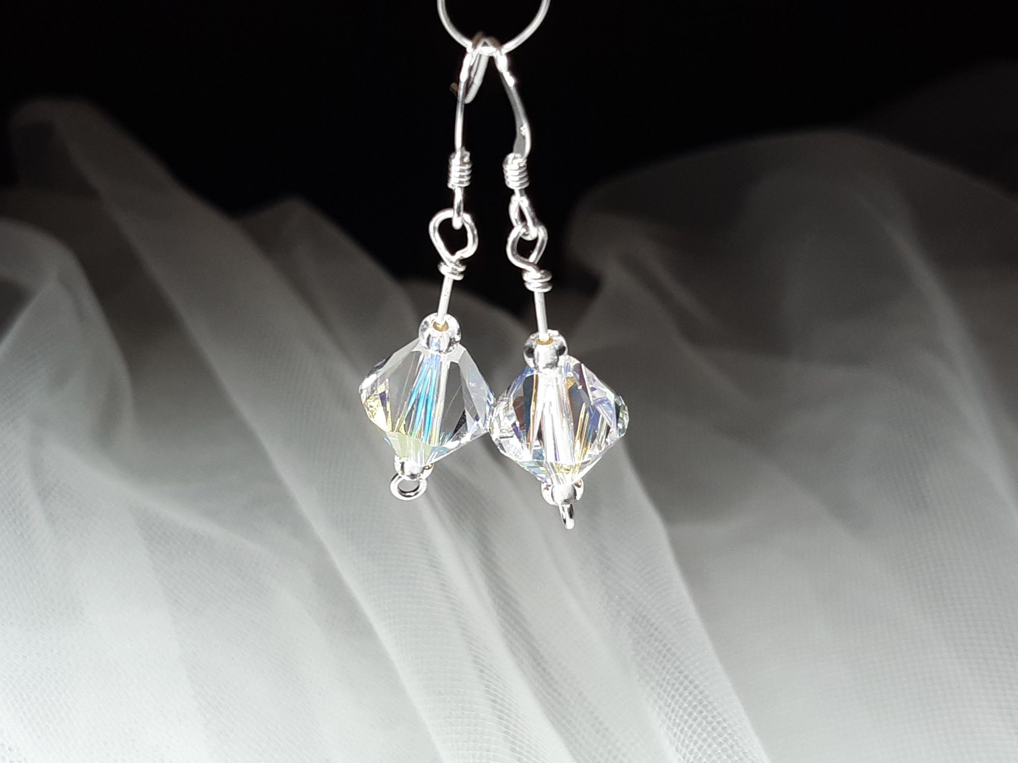Occasion-wedding-swarovski crystal+sterling silver earrings-1.jpg
