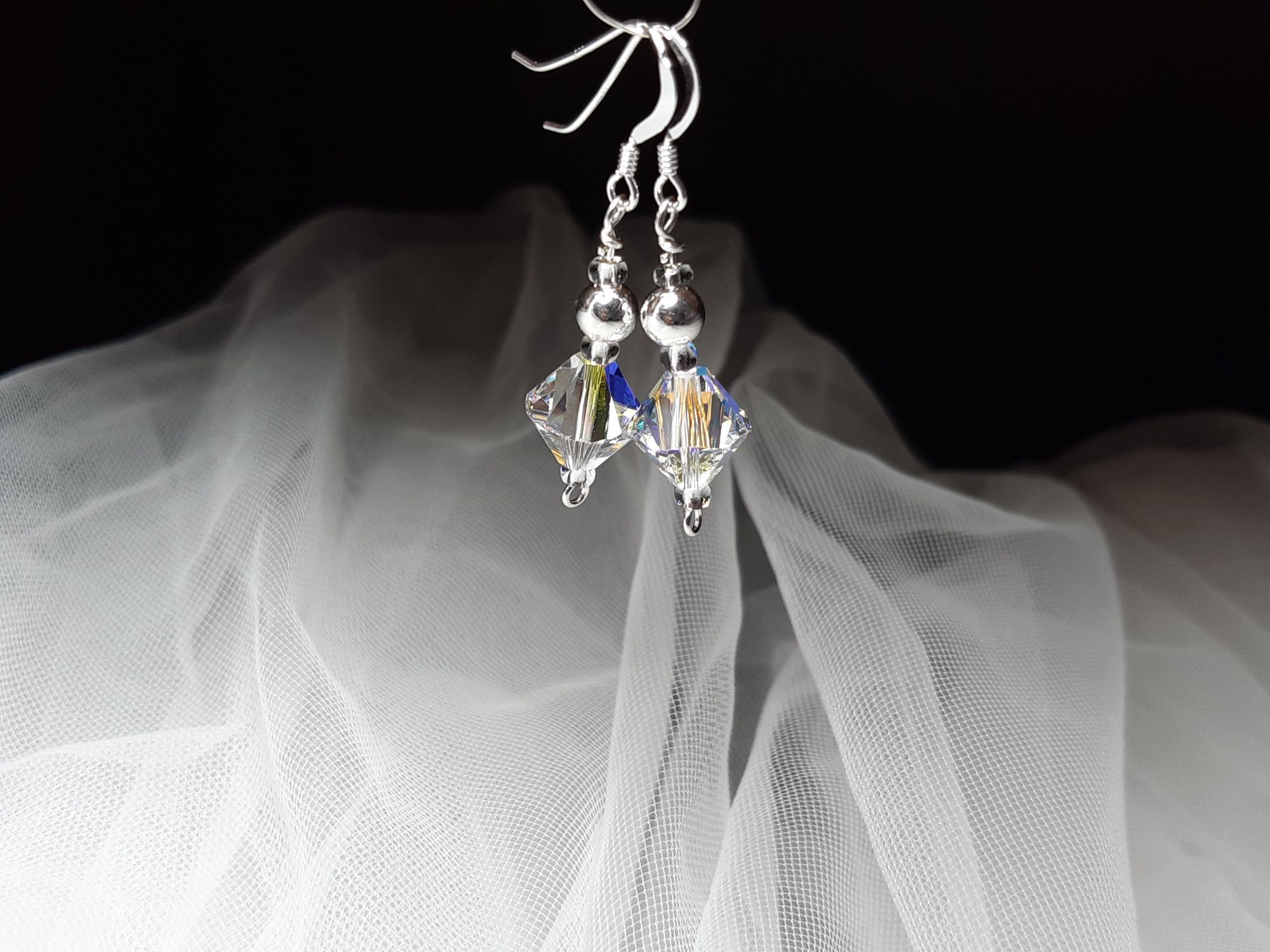 Occasion-bridal-wedding-swarovski crystal+sterling silver earrings-1.jpg