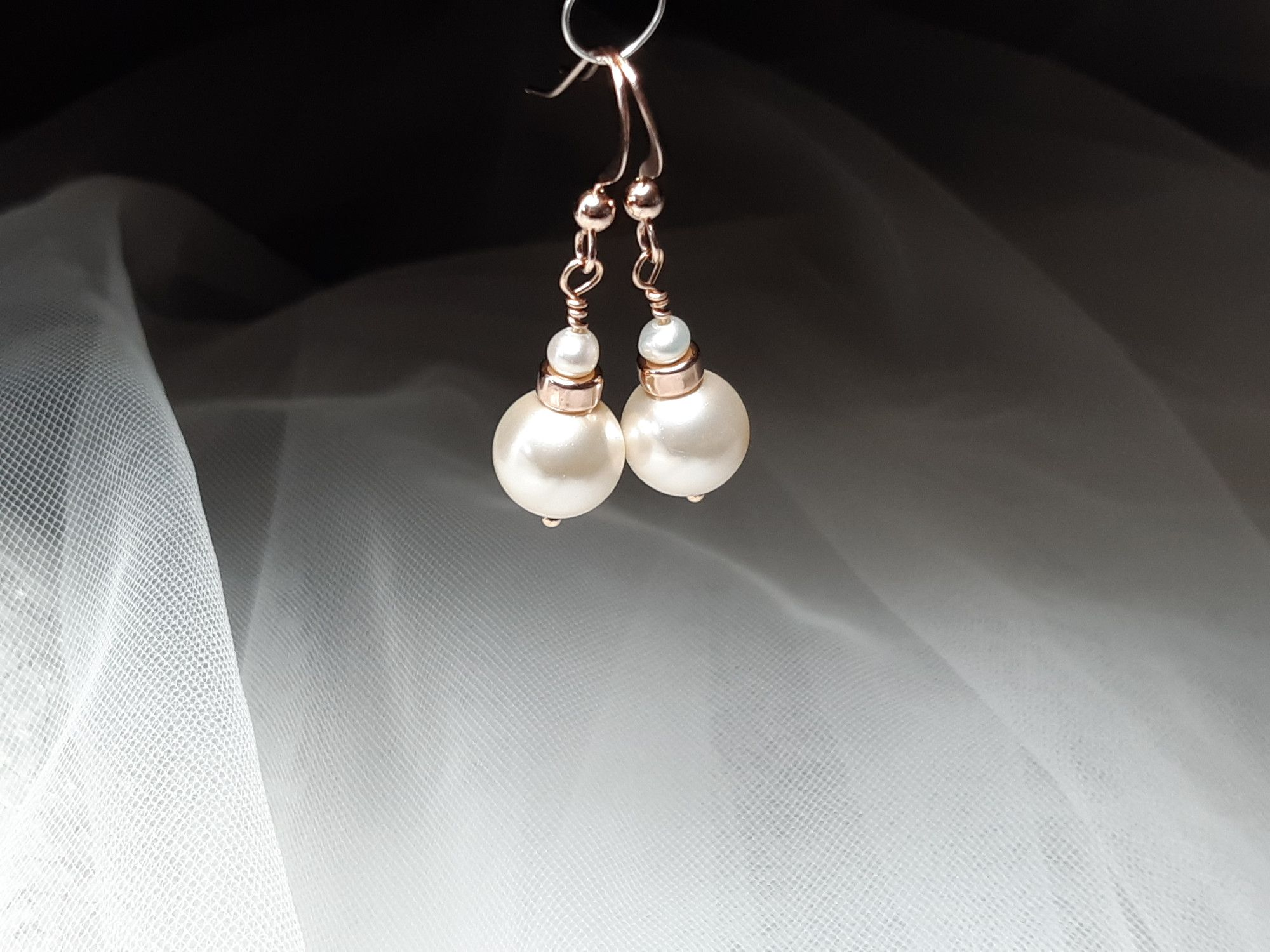 Occasion-bridal-wedding-pearl earrings with rose gold-2.jpg