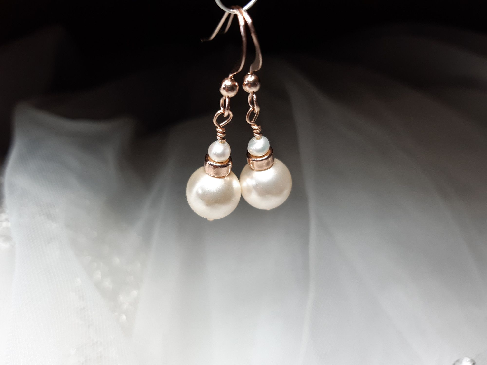 Occasion-bridal-wedding-pearl earrings with rose gold-3.jpg