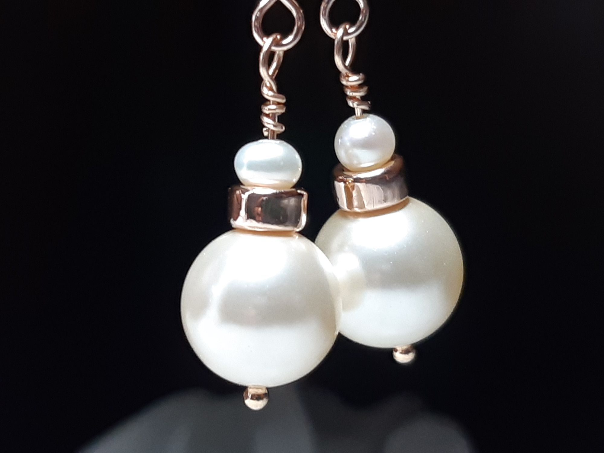 Occasion-bridal-wedding-pearl earrings with rose gold-5.jpg