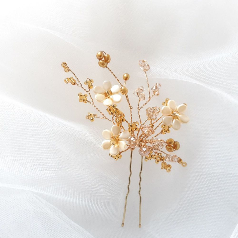 1-ac-3-Esme-A set of 2 large Topaz wedding-hair-pins