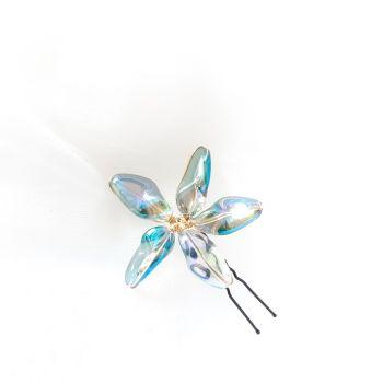 1-ac-3-Melba Star -A large aurora flower hair pin