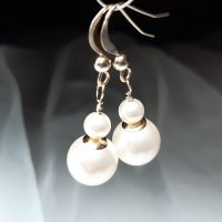Pearl and gold wedding earrings-SWARPRLGLD6-4
