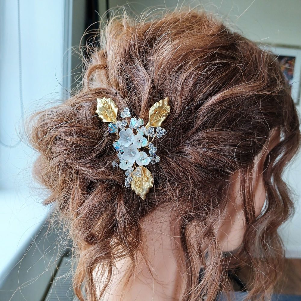 Yellow golden leaf occasion hair accessory-1-a-2-Renay2