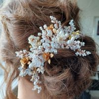 Signature-extra finely woven floral occasion hair accessory-0A-BBS-Roseanne