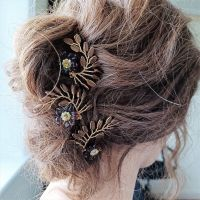 Signature autumnal leaf & flower occasion hair pins-0A-BBS-Felicity.brown