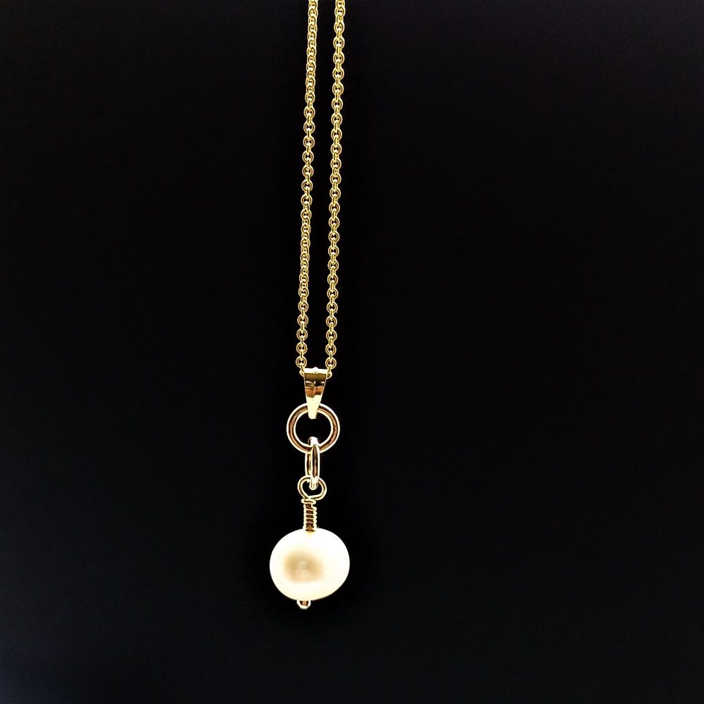 Fresh water pearl pendant-Bridal-wedding.1