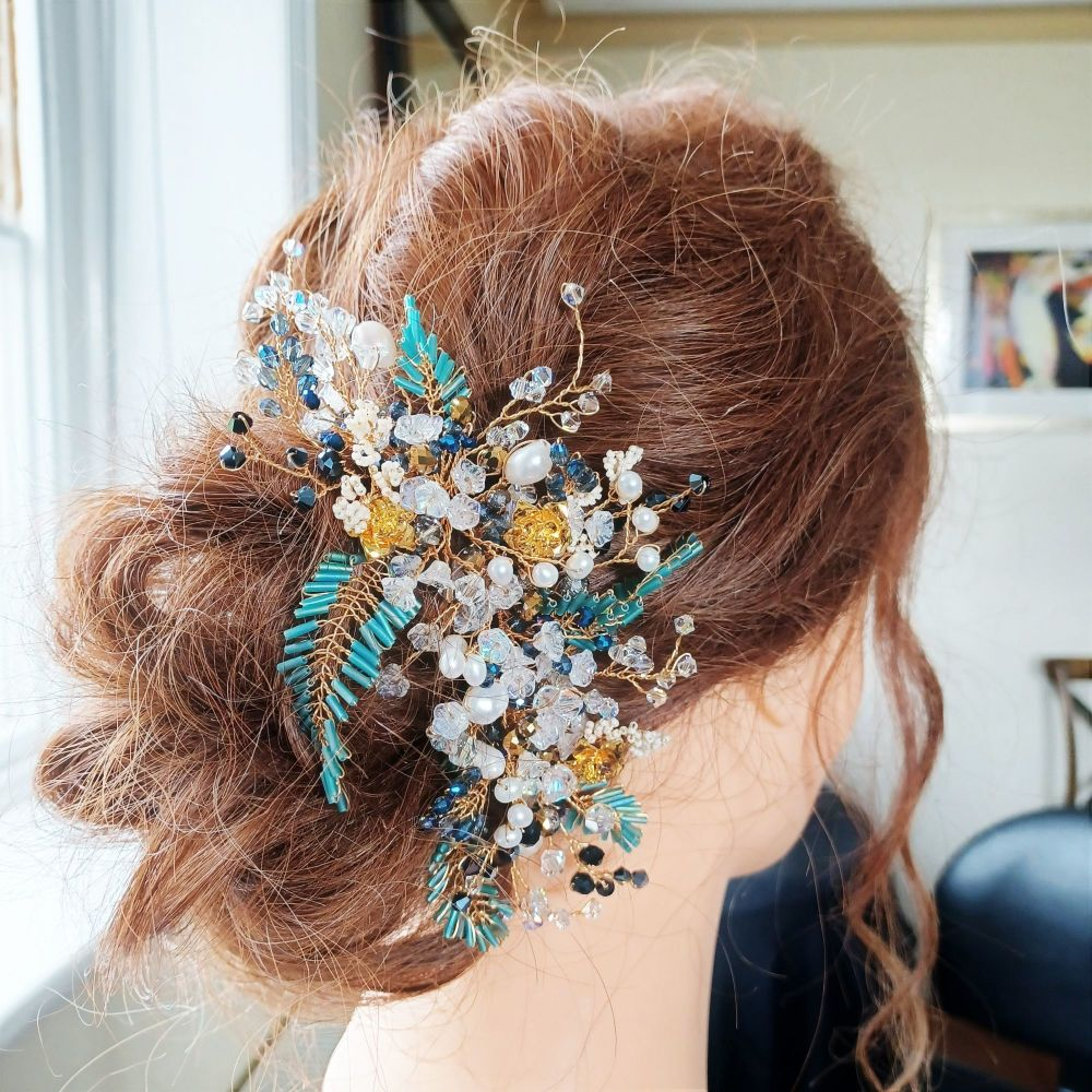 Signature-finely woven floral occasion hair accessory-0A-BBS-Roseanne-1