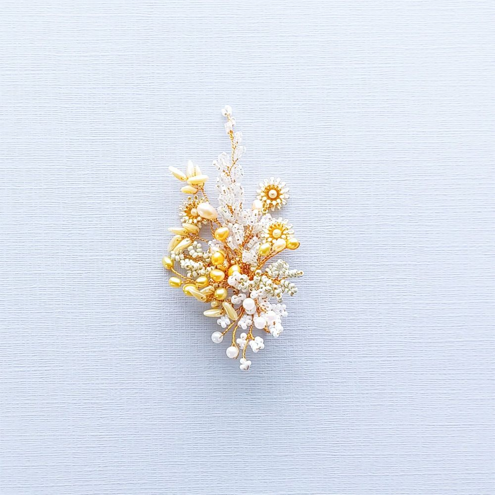 Autumnal floral occasion hair accessory-0A-BBS-Isabella