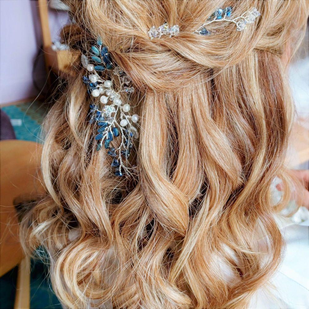 Signature blue & pearl floral vine garland-headpiece-Elizabeth-3 (5)