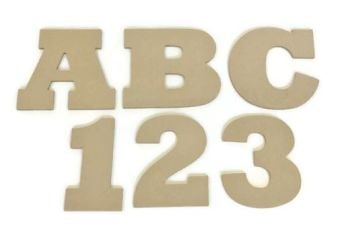 MDF Letters & Numbers 25mm Thick (Rockwell font)