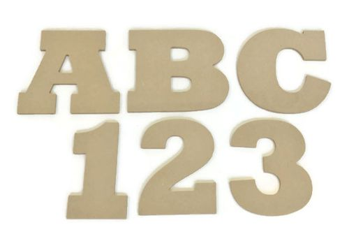 MDF Letters & Numbers 6mm Thick (Rockwell font)