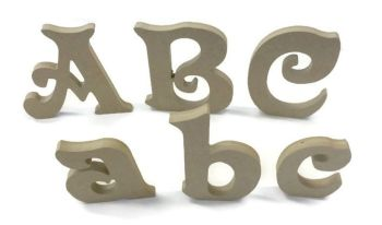 MDF Letters & Numbers 6mm Thick (Victorian font)