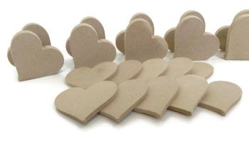10x MDF Hearts, 6mm or 15mm Thick