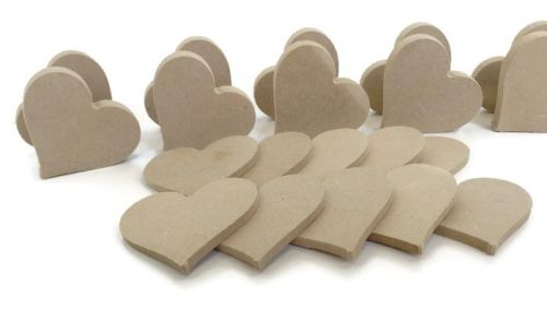 10x MDF Hearts 15mm Thick