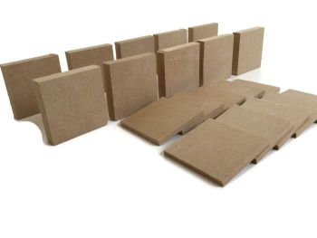 10x MDF Squares, 6mm or 15mm Thick