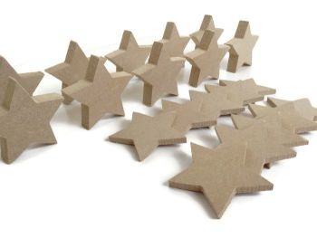 10x MDF Stars, 6mm or 15mm Thick