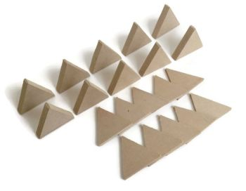 10x MDF Triangles, 6mm or 15mm Thick