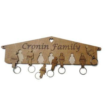 Personalised Birch Plywood Key Holder