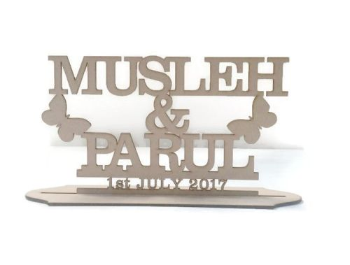 MDF Personalised Butterfly Wedding Stand