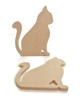MDF Wooden Cat 6mm or 15mm Thick