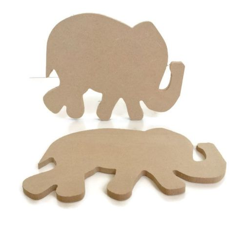 MDF Wooden Elephant 6mm or 15mm Thick