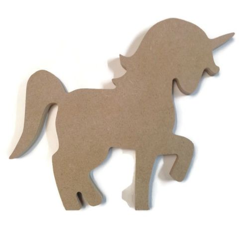 MDF Wooden Unicorn 6mm or 15mm Thick
