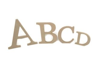MDF Letters & Numbers 18mm Thick (Georgia font)