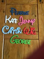 Personalised Disney Name Painted Plaque, 150mm