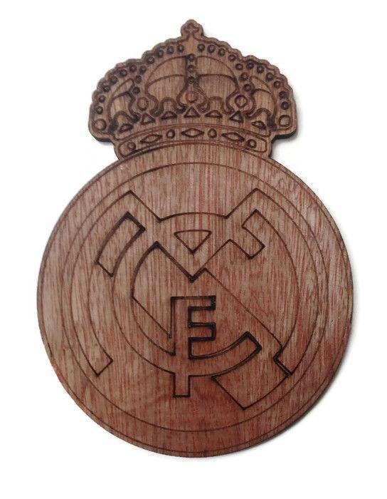 Real Madrid Plywood Football Crest