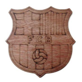 Barcelona Plywood Football Crest