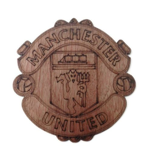 Man Utd Plywood Football Crest