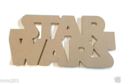 MDF Wooden Star Wars 6mm or 15mm Thick