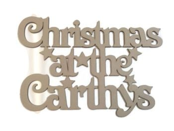 Personalised Christmas Plaque