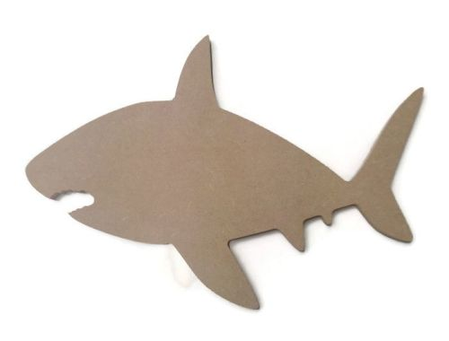 MDF Wooden Shark 6mm or 15mm Thick