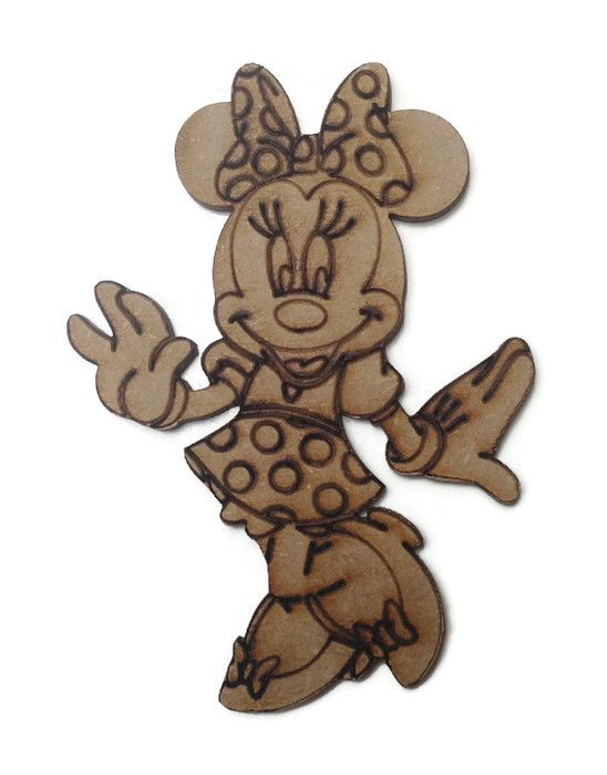Minnie Mouse Figure 100mm - 500mm, 4mm Thick