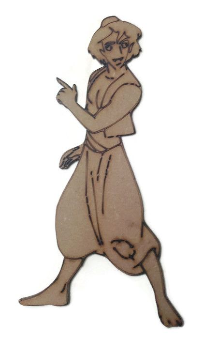 Aladdin Figure 100mm - 500mm, 4mm Thick