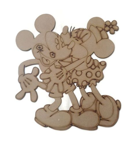 Minnie & Mickey Mouse Figure 100mm - 500mm, 4mm Thick