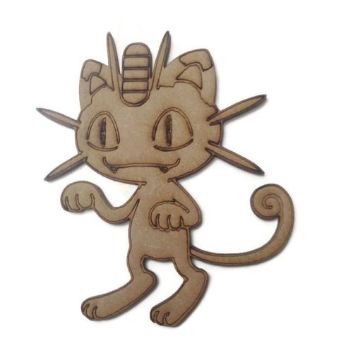 Meowth Figure 100mm - 500mm, 4mm Thick
