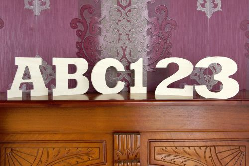 Plywood Letters & Numbers 18mm Thick (Rockwell font)