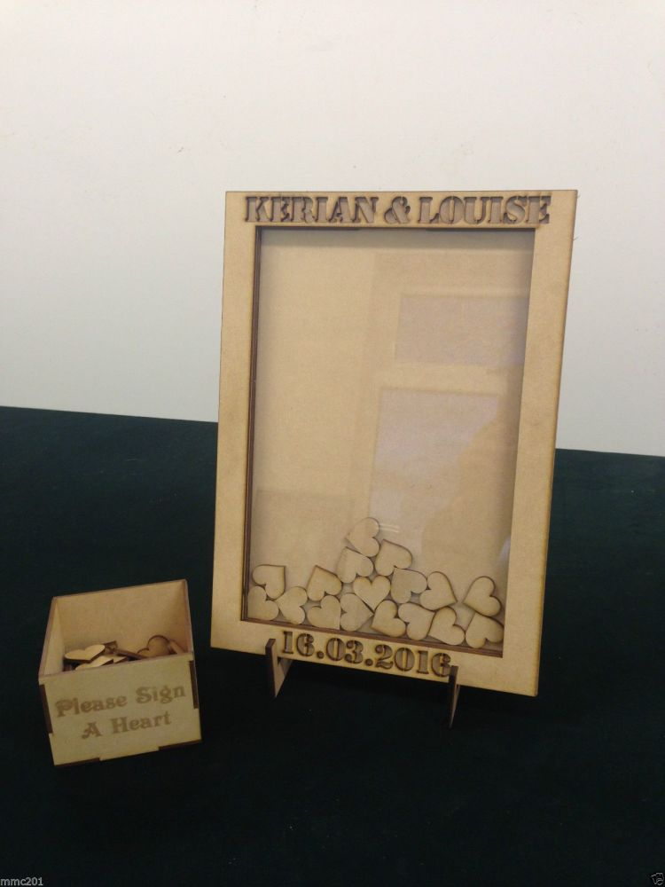 Alternative Wooden MDF Rectangle Shape Guestbook Dropbox