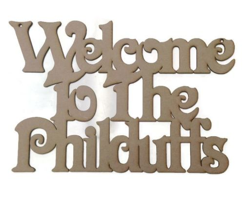 Personalised Welcome Plaque 'Welcome To The'